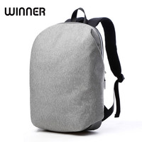 New Simple Fashion Solid Oxford Cloth PU Leather Men Unique Design Laptop Brand Backpack Male Business