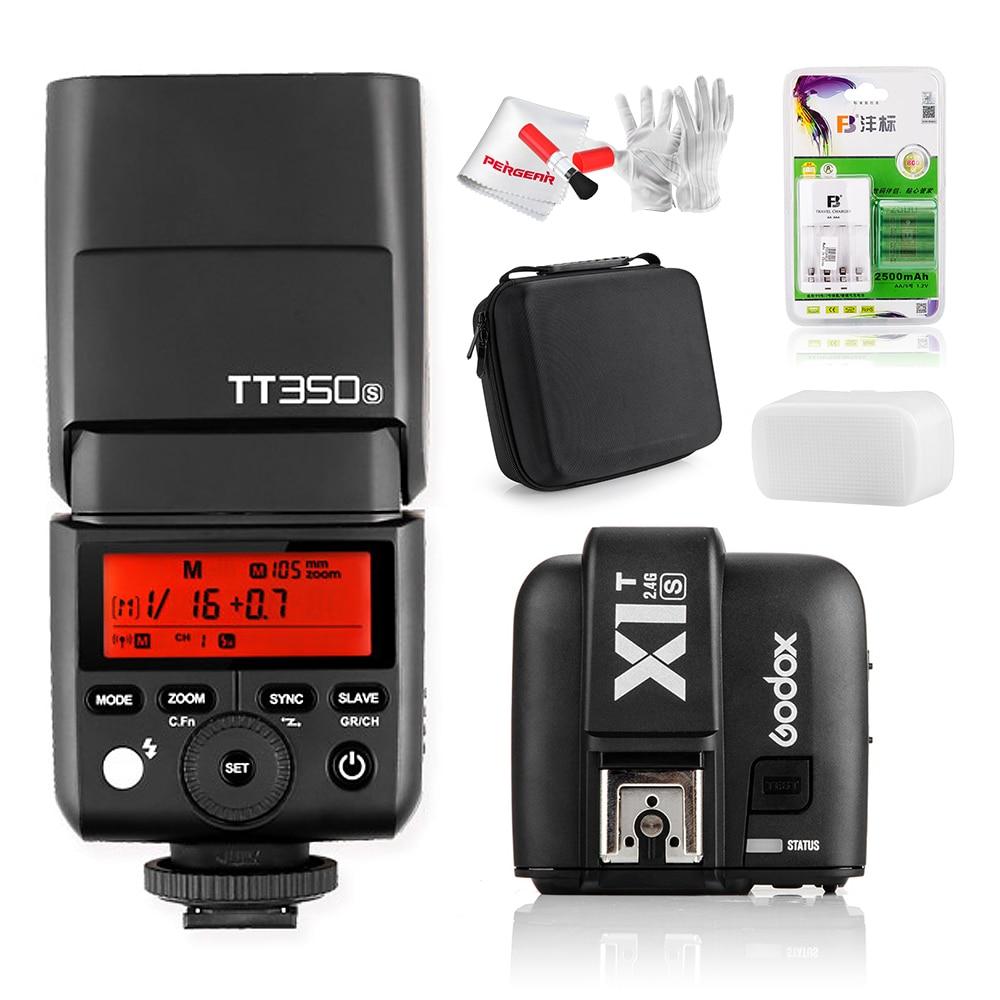 w/ Battery Godox Mini Speedlite TT350S Camera Flash TTL HSS GN36 1/8000S for Sony Mirrorless DSLR Camera A7 A6000 A6500 / X1T-S flash speedlite for sony camera 4 x aa