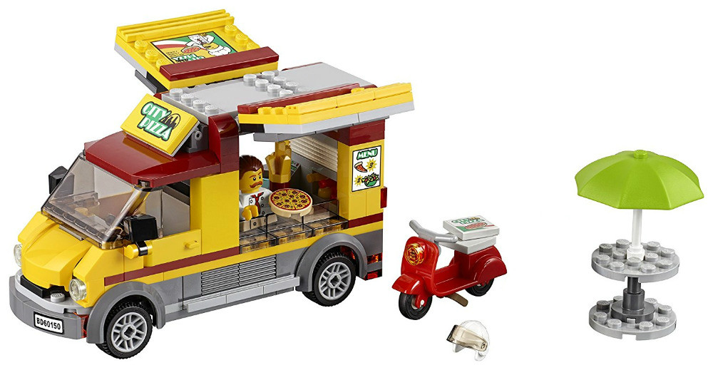 MEW City Vehicles Pizza Van Building Blocks Sets Bricks Kids Figures Toys Compatible Lepins & Bela Classic Model hot city series aviation private aircraft lepins building block crew passenger figures airplane cars bricks toys for kids gifts