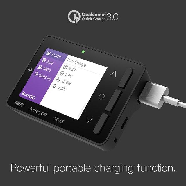 BG 8S Smart Batterij Checker Quick Charge Functie Balancer Ontvanger Signaal Tester Ameter Volt Meter IT60i Connector