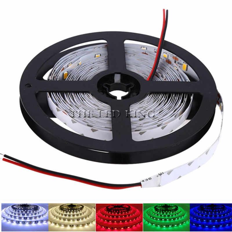 Taśma LED 2835 DC12V 60 leds/m 5 m/partia elastyczna taśma LED RGB RGBW 2835 taśma LED z ue/adapter amerykański i przełącznik RGB niebieski zielony czerwony