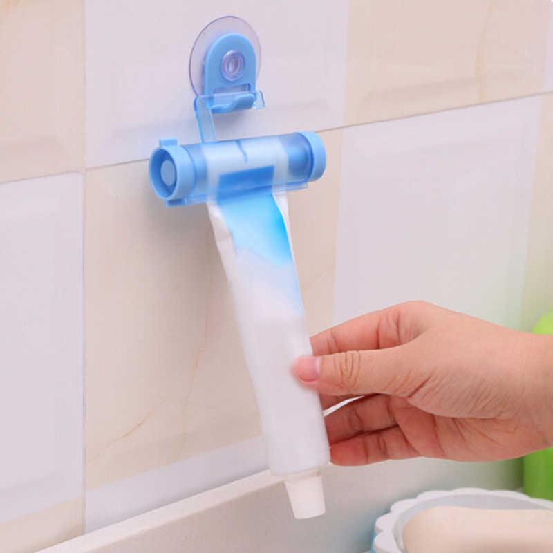 Plastikowa tubka do zgniatania przydatna pasta do zębów łatwe dozownik łazienka uchwyt do pasty do zębów akcesoria łazienkowe losowy kolor