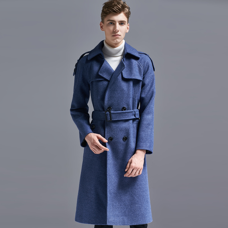 Luxury Mens Coat Hight Quality X-long Style Double Breasted Mens Coats And Jackets With Belt Plus Size 5xl 6xl Trench Coat Men