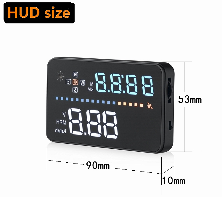 Image 5 - Universal A3 Auto GPS HUD Heads Up Display digital GPS Car Accessories  Electronics  Digital Speedometer A300 OBD2 HUD-in Head-up Display from Automobiles & Motorcycles