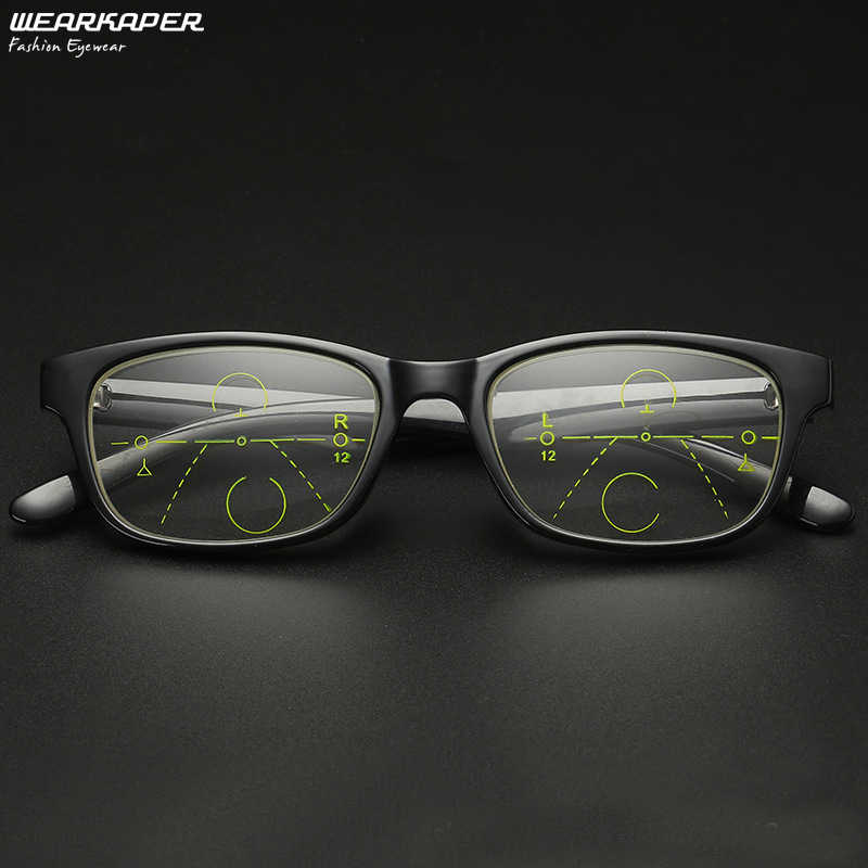 Weartaper TR90 Near And Far gafas multifoco hombres mujeres Smart zoom gafas De lectura progresivo Oculos De Grau 1,5 2,0 2,5 3,0