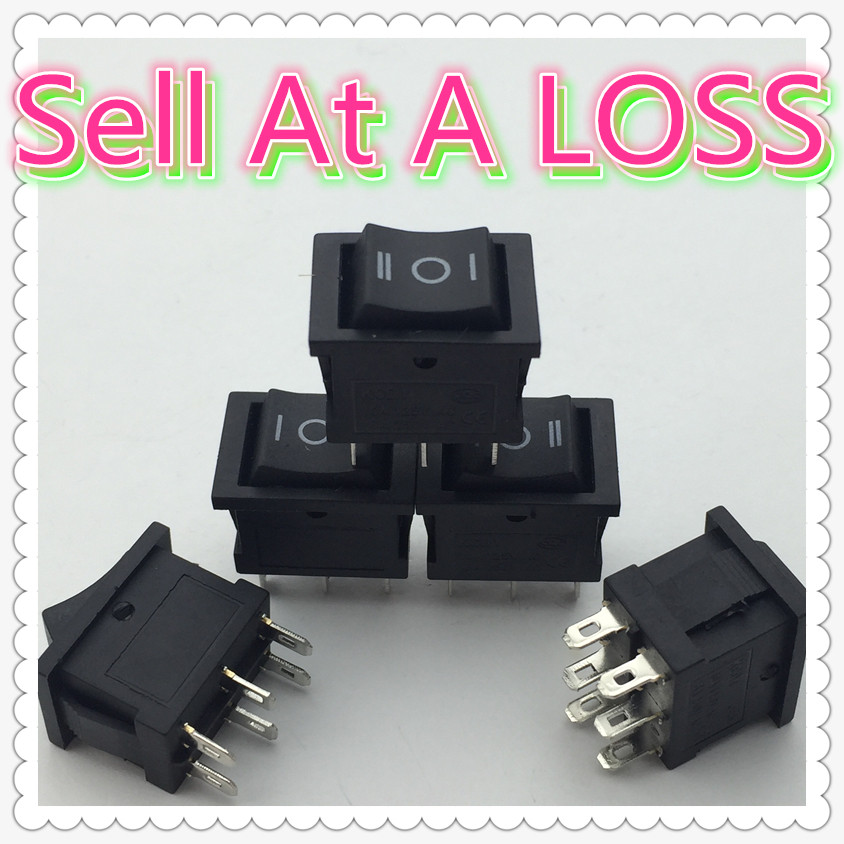 5pcs/lot 15*21mm 6PIN ON/OFF/ON G131 Boat Rocker Switch 6A/250V 10A/125V Car Dash Dashboard Truck RV ATV Home 5pcs kcd1 perforate 21 x 15 mm 6 pin 2 positions boat rocker switch on off power switch 6a 250v 10a 125v ac new hot