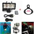2016 New Go Pro Accessories LED Flash Light Fill Shooting Night Mount  Waterproof LED Light For Gopro Hero5 3+ 3 4 xiaomi yi  SJ