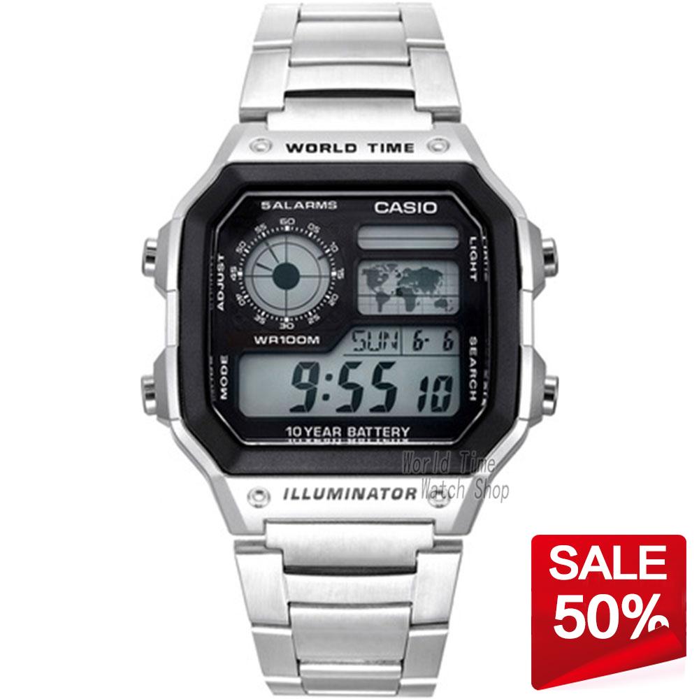 Prix pour Casio watch étanche loisirs sports hommes de montre ae-1200whd-1a