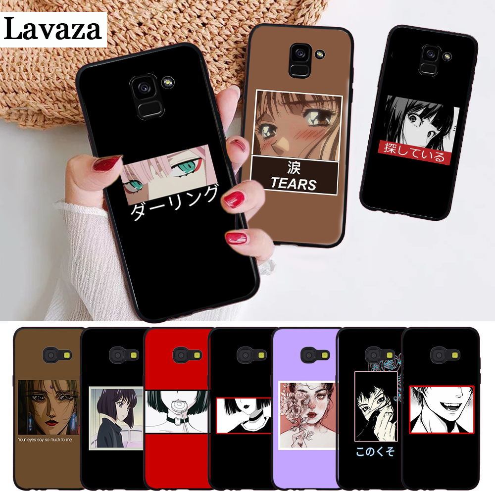 Beautiful eyes of cartoon Silicone <font><b>Case</b></font> for <font><b>Samsung</b></font> A2 Core A3 A5 A6 Plus A7 A8 A9 <font><b>A10</b></font> A30 A50 A60 A70 A10S A30S A50S A70s image