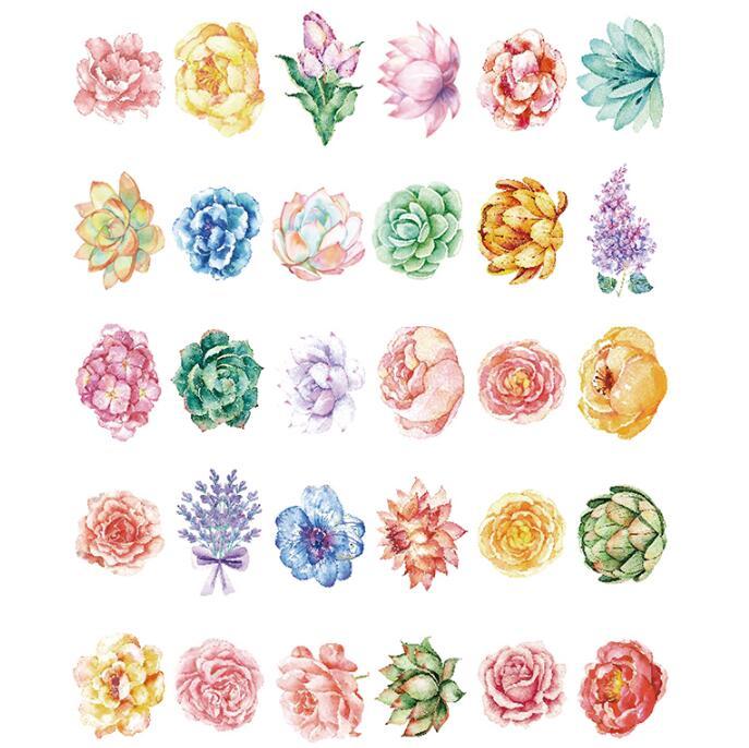 30 stks partij mooie bloemen postkaarten wenskaart kerst