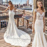 VNXIFM 2019 новые элегантные кружевные свадебные платья Бохо с открытыми плечами с короткими рукавами Свадебные платья пляжные свадебные плать