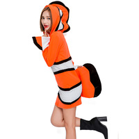 Anime Finding Nemo Costume Adult Women Role Nemo Cosplay Halloween Female Animal Clownfish Costumes Fancy Party Dress Up Suit