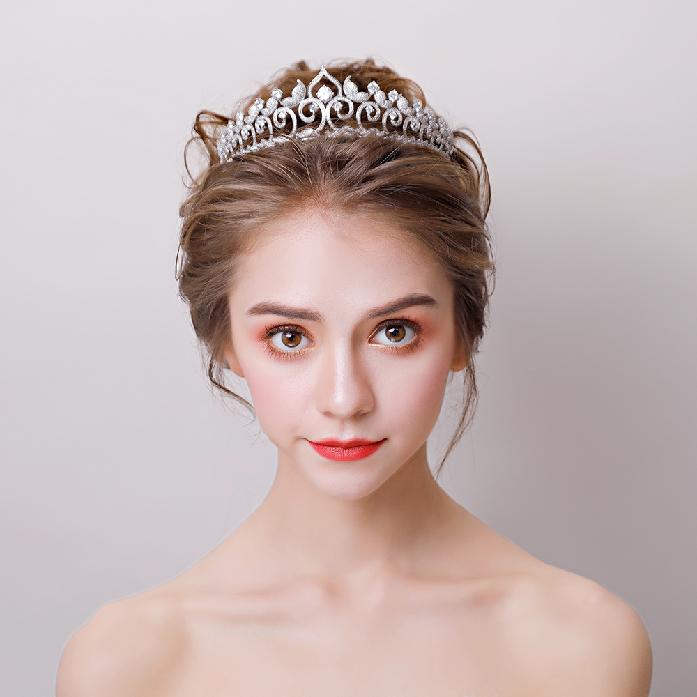Vintage Flame Crown Tiara Micro Inlaid Cubic Zirconia Headband Hair Jewelry for Wedding Bridal Headpiece Zircon Hairband Gifts цена 2017