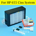 4 Cores/Set Sistema de Abastecimento Contínuo de Tinta Ou Ciss Vazio Para HP 655 Para HP Officejet 3525,5525, 6520,4625 4615,6525 de Impressora