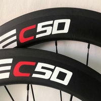 Newest Style Bicycle Carbon Wheels 50mm C50 Road Bike Carbon Wheels Clincher V Brake Surface 3k
