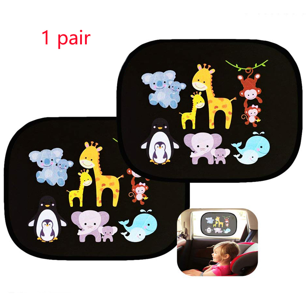 2pcs/Set Car Side Window Sunshade Cartoon Patterned Auto Sun Shades Protector Foldable Car Cover For Baby Child Kids Car Styling