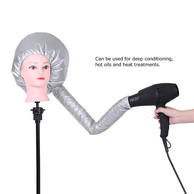 Pro Hair Dryer Hat Cap Bonnet Hood Nylon Portable Attachment Head Cover Hot Oil