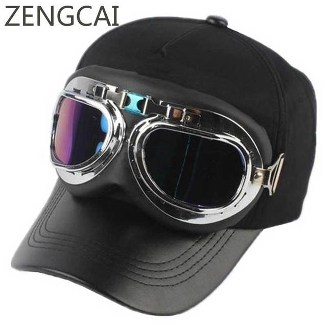 Baseball Caps With Glasses Pilot Cap Cool Hip Hop Snapback Women Men Retro  Design Trendy Lover 886f38fb24a