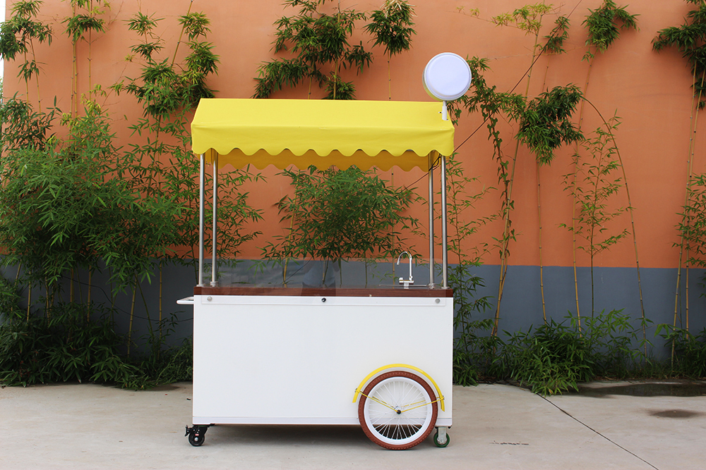 Multifunctional  pedal  mobile food cart bike food truck trailer coffee kiosk with free shipping by sea
