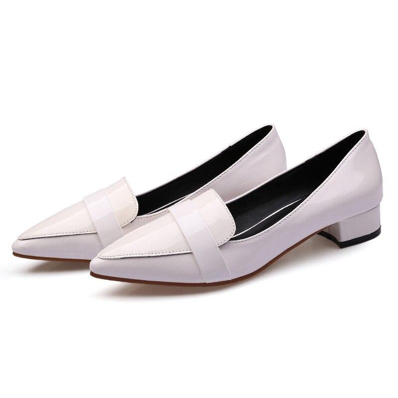 Pointu Femmes rouge Nouvelles Verni Avec 2018 blanc À Talons Cuir Bas En Simples Noir De FemelleNoir Chaussures Yfy6bg7v