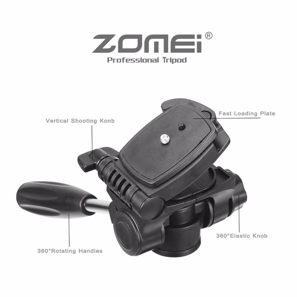 Nuevo respectivamente trípode Z666 profesional portátil de aluminio trípode de cámara accesorios soporte con cabeza Pan para Canon cámara Dslr - 3
