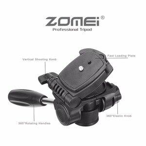Image 3 - Yeni Zomei Tripod Z666 profesyonel taşınabilir seyahat alüminyum kamera tripodu aksesuarları standı Pan başkanı ile Canon Dslr kamera için
