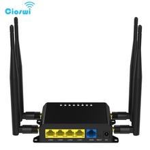 Enrutador 3G 4G de 300Mbps para coche/Autobús, WiFi, Firmware Hopspot OpenWRT con ranura para tarjeta sim y antena externa