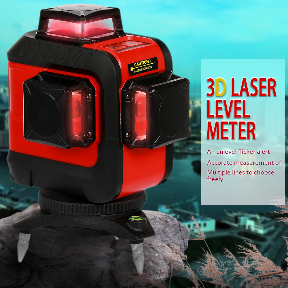 KKMOON DIY 12 Lines 360 Green Red 3D Laser Level Self-Leveling Horizontal And Vertical Cross With Laser Protective Glasses drill buddy cordless dust collector with laser level and bubble vial diy tool new