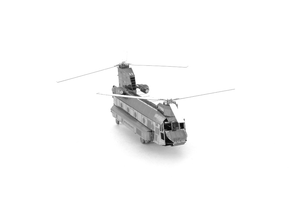 3D Metal Apache Chinook helicopterr Puzzles Toys 3D Metal Model NANO Puzzles New Styles Chinses Metal