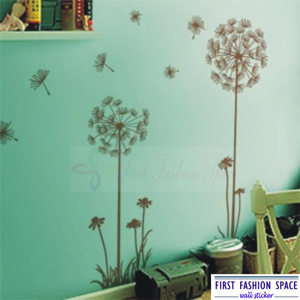 Modern dandelion flowers nature wall decals vinyl art mural wall aeproducttsubject amipublicfo Images
