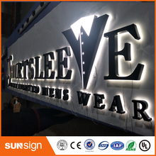Оптовая торговля металлическими знаки письма канала Сид нержавеющей стали с подсветкой для создания рекламы
