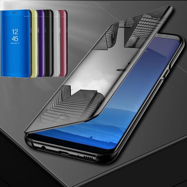 Mirror Flip Case For Xiaomi Mi 8 SE A1 A2 Lite MIX2 Redmi 6A Note 6 Pro 5 Plus 5A Prime Note 4X 4 Global S2 Poco F1 Full Cover