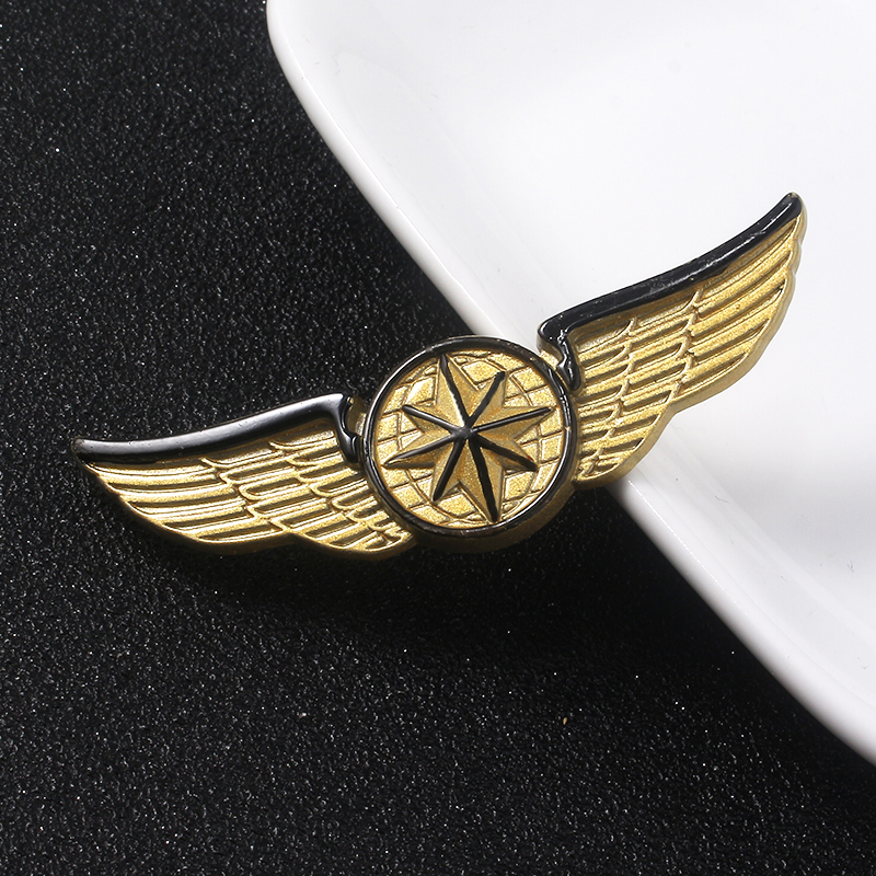 2019 Movie Avengers Endgame Brooches Captain Logo Gold Star Wings Pins Hats Cowboy Clothes Badges Jewelry image