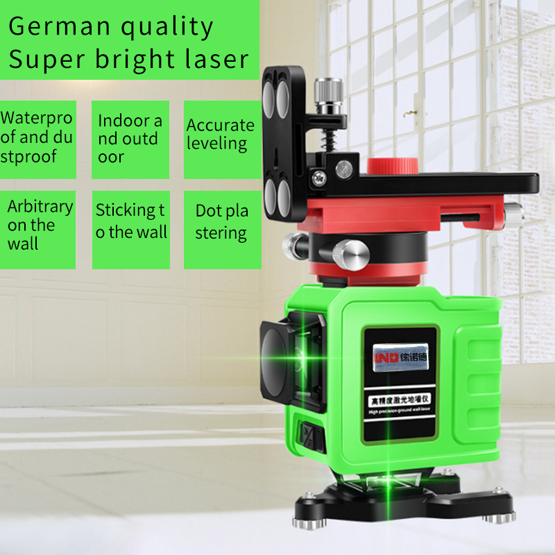 NEW LND 12Lines 3D Laser Level Self Leveling 360 Horizontal And Vertical Green laser in Laser Levels from Tools