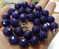 10mm Faceted shape Amethyst Jasper beads necklace 18'' A++  jewelry Natural stone Wholesale Price