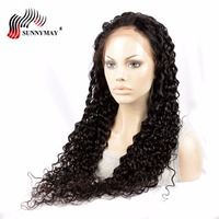 Sunnymay 360 Lace Frontal Wig Loose Wave Brazilian Virgin Hair Lace Wigs For Black Women Pre Plucked Bleacked Knots