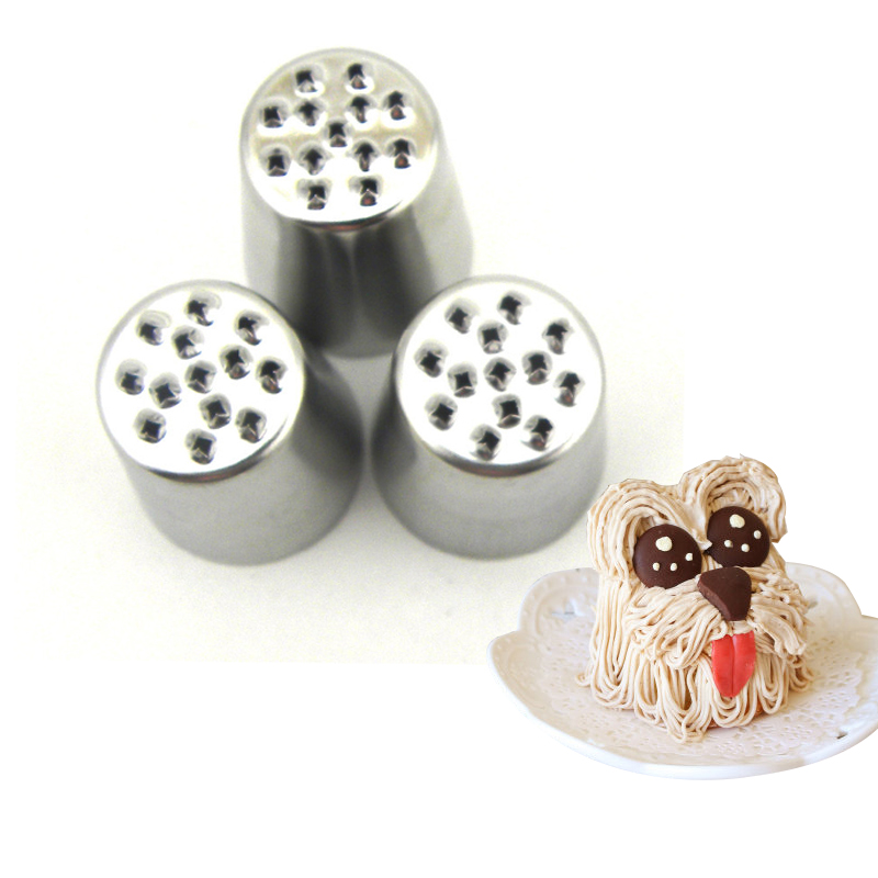 3pcs Diy Stainless Steel Nozzles Icing Piping Pastry Tips Decorating Cake Cupcake Kitchen Accessories Cakes Decorating Tools