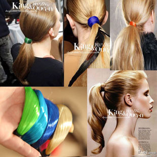 Free shipping 369 - 1 Fashion Supermode  Neon color Wig Rubber  Hair rope Headband  Hair accessories Hairpin Ornaments