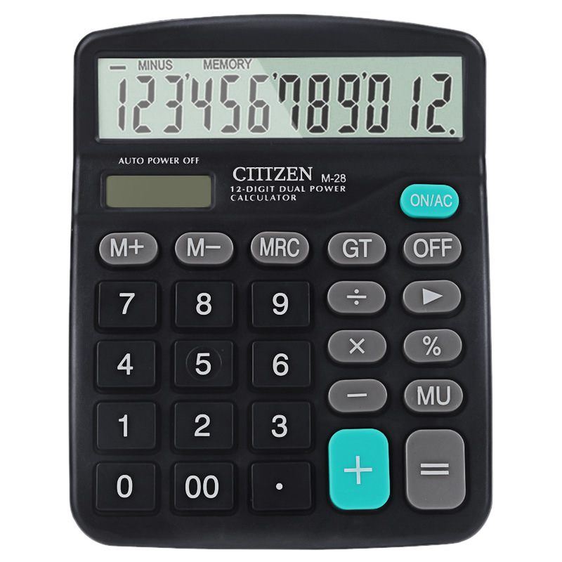 Black Color Electronic Calculator Standard Function Desktop Calculator Solar And Battery Powered calculadora For Office Supplies etmakit office home calculator office worker school calculator portable pocket electronic calculating calculator newest