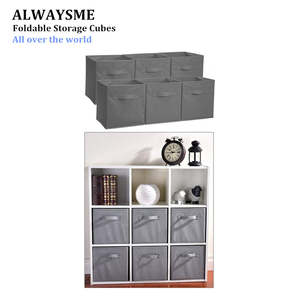 ALWAYSME Storage Cube Basket Bins-Organizer Containers Drawers Closet Fabric-Cloth Foldable
