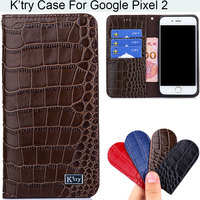 K Try Alligator Skin Genuine Real Leather Phone Case Luxury Elegant Waist Pouch For Google Pixel