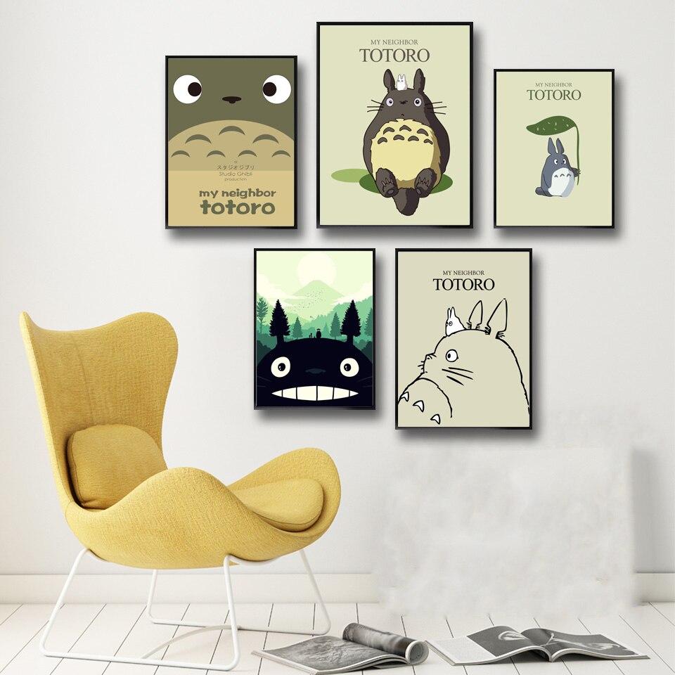 Mein Nachbar Totoro Hayao Miyazaki Cartoon Anime Poster Movie ...