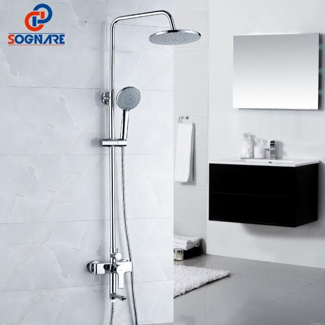 SOGNARE Badezimmerarmaturen Regen Dusche Wasserhahn Set Badewanne ...