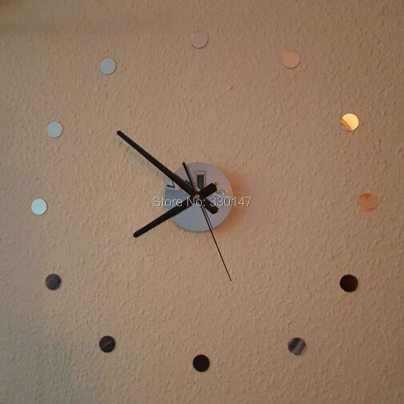 diy watch home decor small round acrylic mirror sticker simple time