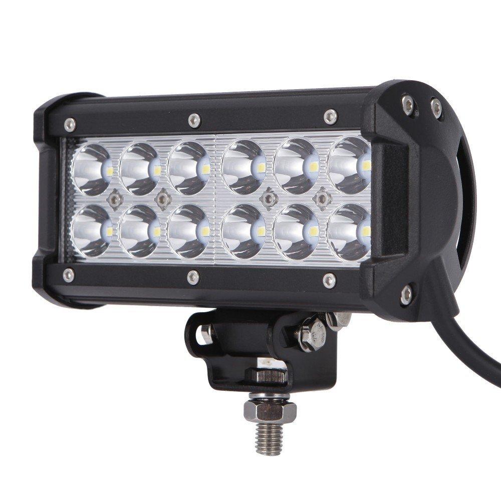 1Pcs 7Inch 36W LED Light Bar Car LED Work Lights Driving Boat Auto Car Truck SUV ATV Off Road Fog Lamp  For Jeep Ford F350 12V