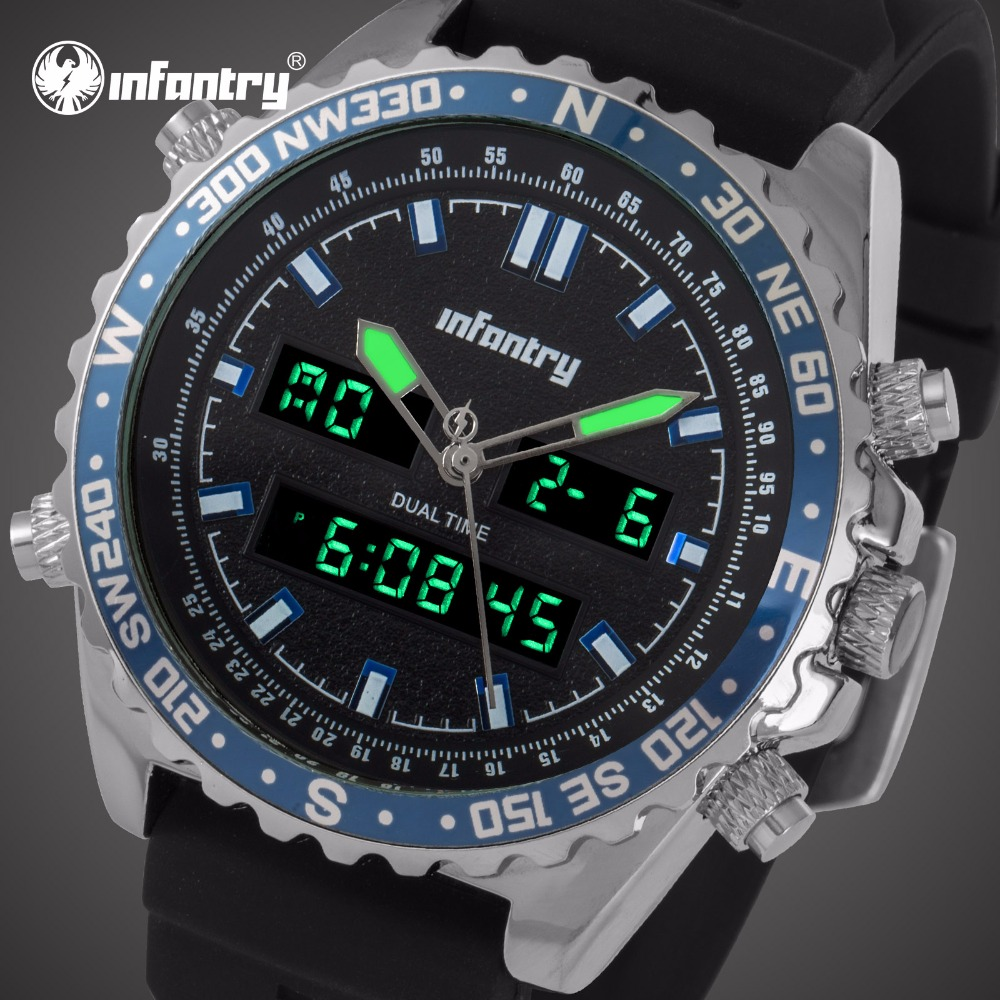 INFANTRY Mens Watches Top Brand Luxury Analog Digital Military Watch Men Tactical Police Army Watches for Men Relogio Masculino infantry mens watches top brand analog digital watch men military tactical army watches for men dual time relogio masculin 2018