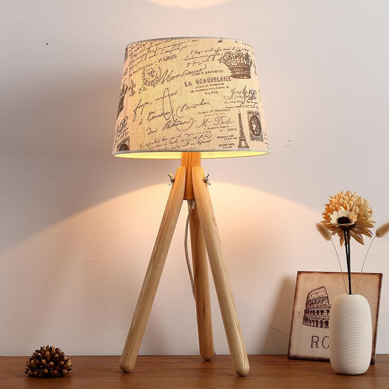 Contracted and contemporary real wood desk lamp creative individuality bedroom bed study living room lights Nordic wooden lamps creative personality for contemporary and contracted wooden desk lamp fold wood rocker fashionable living room