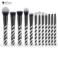DUcare 12pcs New Makeup Brush Set High Quality Goat Hair And Synthetic Hair Professional Make Up
