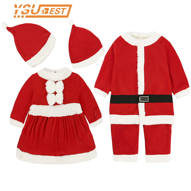 c300fbe7c Detail Feedback Questions about 2019 New Year Kid Baby Boys Girls Dress  Christmas Costume Santa Claus Suit Christmas Clothes Hat 2pcs Boys Girl  Kids Clothes ...