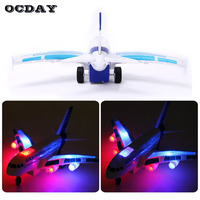 A380 RC Airplane Light Music Universal Airbus Electric Plane Model Flashing Remote Control Aircraft Children Kids